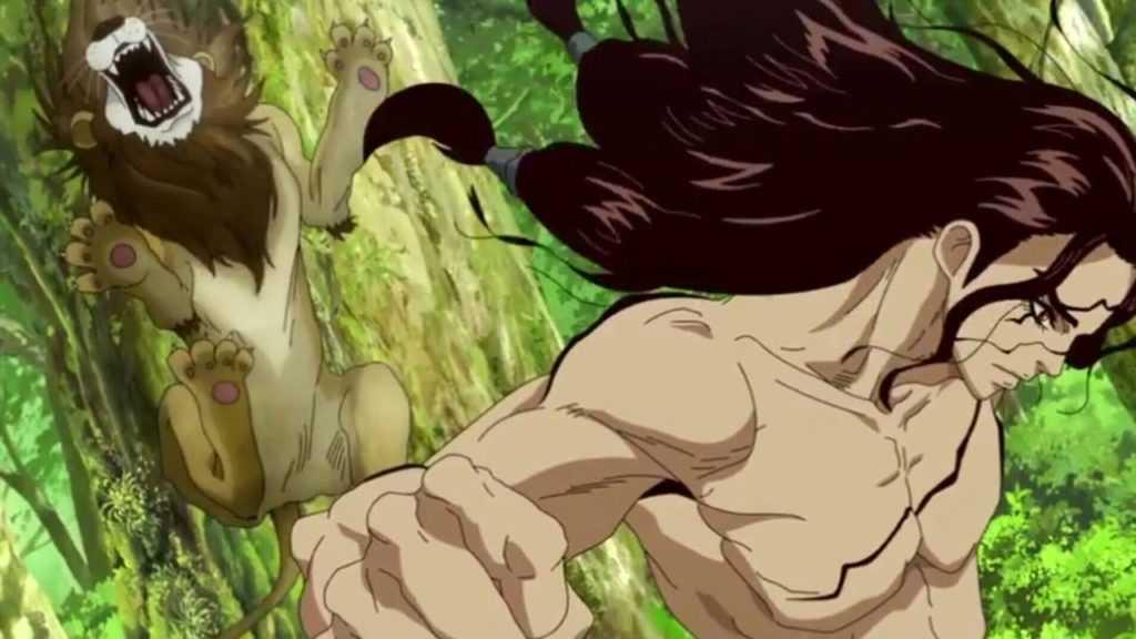Dr stone lion scene