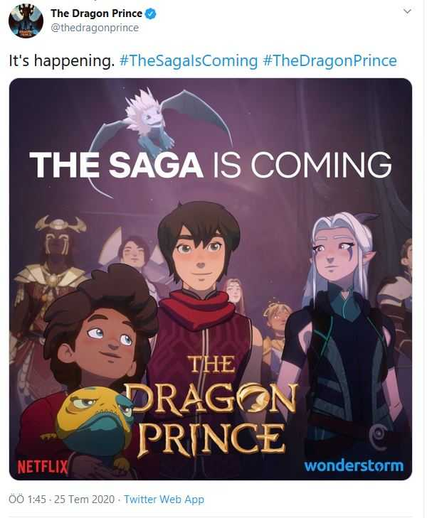 The dragon prince renewed from twitter