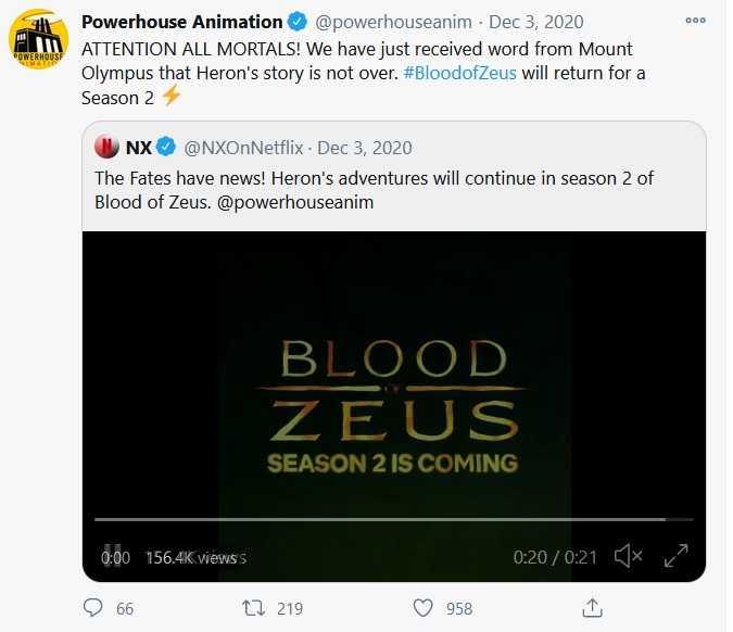 blood of zeus season 2 confirmed