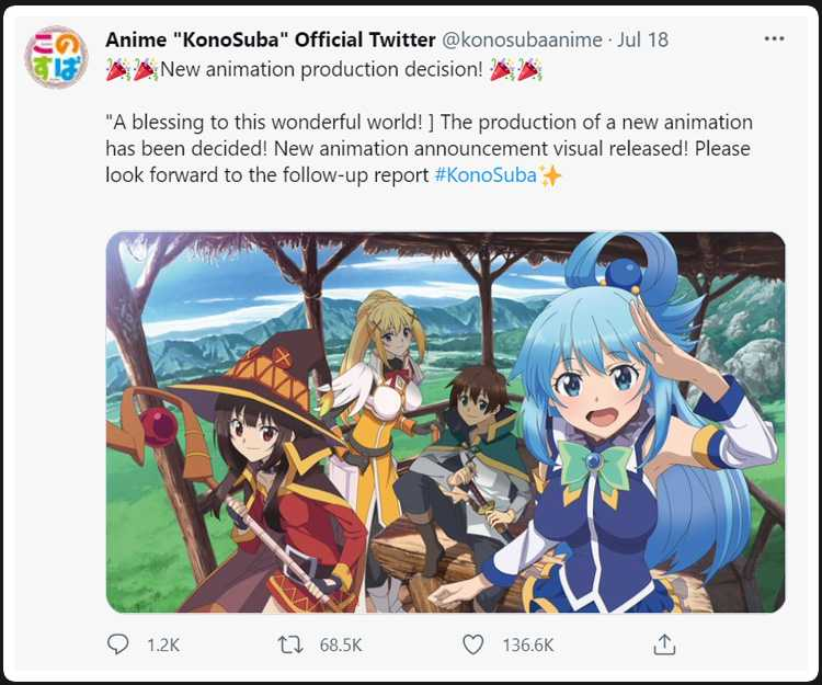 new konosuba anime project