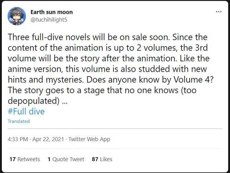 Full dive light novel